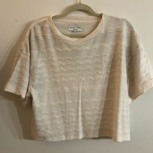 BRAND NEW WITH TAGS! Cream Madewell top!